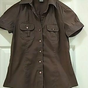 Ann Taylor short-sleeved shirt